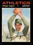 1971 Topps #215  Diego Segui  Front Thumbnail