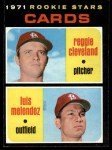 1971 Topps #216   -  Reggie Cleveland / Luis Melendez Cardinals Rookies Front Thumbnail