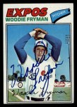 1977 Topps #28  Woodie Fryman  Front Thumbnail