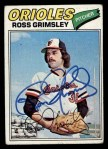 1977 Topps #572  Ross Grimsley  Front Thumbnail