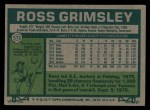 1977 Topps #572  Ross Grimsley  Back Thumbnail