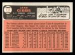 1966 Topps #117  Jake Gibbs  Back Thumbnail