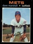 1971 Topps #259  Dave Marshall  Front Thumbnail