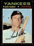1971 Topps #213  Frank Baker  Front Thumbnail