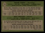 1971 Topps #164   -  Frank Duffy / Milt Wilcox Reds Rookies Back Thumbnail