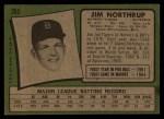 1971 Topps #265 xBLOB Jim Northrup  Back Thumbnail