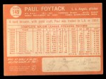 1964 Topps #149  Paul Foytack  Back Thumbnail