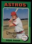 1975 Topps #165  Doug Rader  Front Thumbnail