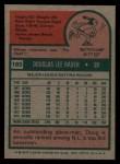 1975 Topps #165  Doug Rader  Back Thumbnail