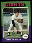1975 Topps #179  Tom Bradley  Front Thumbnail
