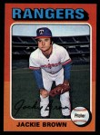 1975 Topps #316  Jackie Brown  Front Thumbnail