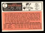 1966 Topps #87  Dan Napoleon  Back Thumbnail