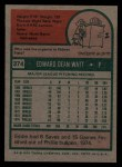 1975 Topps #374  Eddie Watt  Back Thumbnail