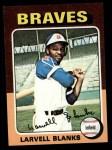 1975 Topps #394  Larvell Blanks  Front Thumbnail
