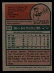 1975 Topps #164  Mickey Rivers  Back Thumbnail