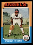 1975 Topps #164  Mickey Rivers  Front Thumbnail