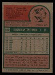 1975 Topps #182  Don Hahn  Back Thumbnail