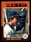 1975 Topps #290  Jon Matlack  Front Thumbnail