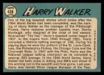 1965 Topps #438  Harry Walker  Back Thumbnail