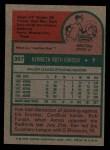 1975 Topps #357  Ken Forsch  Back Thumbnail