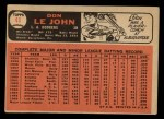 1966 Topps #41  Don LeJohn  Back Thumbnail