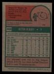 1975 Topps #368  Vic Albury  Back Thumbnail