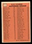 1966 Topps #219   -  Deron Johnson / Willie Mays / Frank Robinson NL RBI Leaders Back Thumbnail