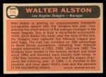 1966 Topps #116  Walter Alston  Back Thumbnail