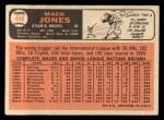 1966 Topps #446  Mack Jones  Back Thumbnail
