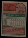 1975 Topps #342  Leroy Stanton  Back Thumbnail