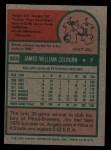 1975 Topps #305  Jim Colborn  Back Thumbnail