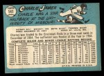 1965 Topps #141  Charlie James  Back Thumbnail