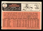 1966 Topps #236  Mike Hershberger  Back Thumbnail
