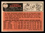 1966 Topps #214  Tommy Harper  Back Thumbnail