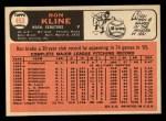 1966 Topps #453  Ron Kline  Back Thumbnail