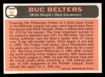 1966 Topps #99   -  Willie Stargell / Donn Clendenon Buc Belters Back Thumbnail