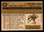 1960 Topps #89  Hal Brown  Back Thumbnail