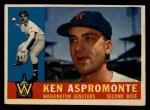 1960 Topps #114  Ken Aspromonte  Front Thumbnail
