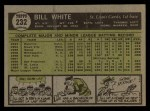 1961 Topps #232  Bill White  Back Thumbnail