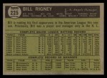 1961 Topps #225  Bill Rigney  Back Thumbnail