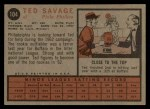 1962 Topps #104  Ted Savage  Back Thumbnail