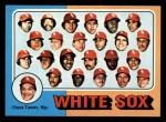1975 Topps Mini #276   -  Chuck Tanner White Sox Team Checklist Front Thumbnail