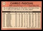1969 Topps #513  Camilo Pascual  Back Thumbnail