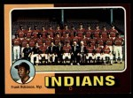 1975 Topps Mini #331   -  Frank Robinson Indians Team Checklist Front Thumbnail