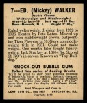 1948 Leaf #7  Mickey Walker  Back Thumbnail