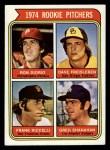 1974 Topps #599 ^LG^  -  Dave Freisleben / Ron Diorio / Frank Riccelli / Greg Shanahan Rookie Pitchers   Front Thumbnail