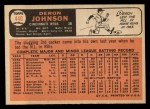 1966 Topps #440  Deron Johnson  Back Thumbnail