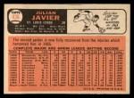 1966 Topps #436  Julian Javier  Back Thumbnail