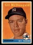 1958 Topps #20 YN Gil McDougald  Front Thumbnail