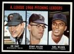 1967 Topps #235   -  Jim Kaat / Denny McLain / Earl Wilson AL Pitching Leaders Front Thumbnail